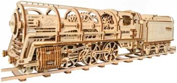 3D пазл UGears Locomotive with Tender