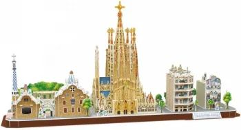 3D пазл CubicFun City Line Barcelona MC256h