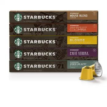 Кава Starbucks by Nespresso Favorites Variety Pack 5 смак х 10 капсул