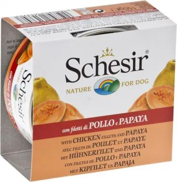Корм для собак Schesir Adult Canned Chicken/Papaya 0.15 kg