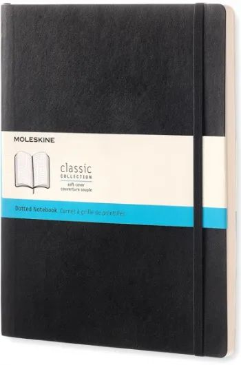 Блокнот Moleskine Dots Soft Notebook Extra Large Black