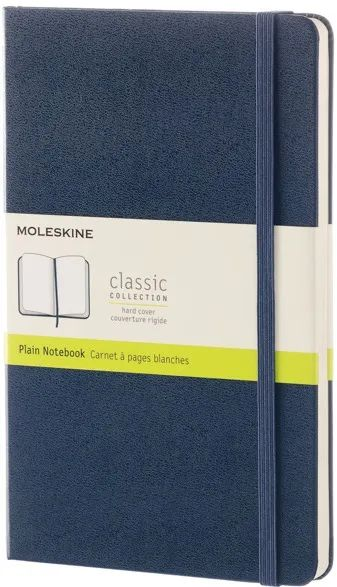 Блокнот Moleskine Plain Notebook Large Sapphirine