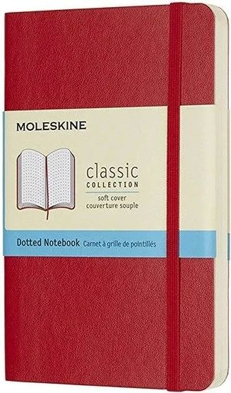 Блокнот Moleskine Dots Soft Notebook Small Red