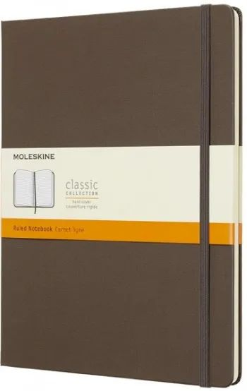 Блокнот Moleskine Ruled Notebook Extra Large Brown
