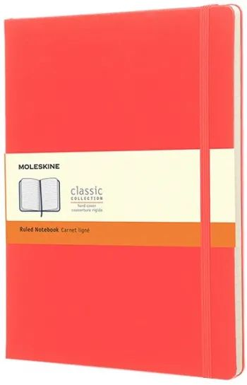 Блокнот Moleskine Ruled Notebook Extra Large Coral